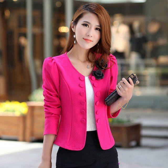 Resultado de imagen para chaquetas cortas para mujer elegantes ... d51333fc39de