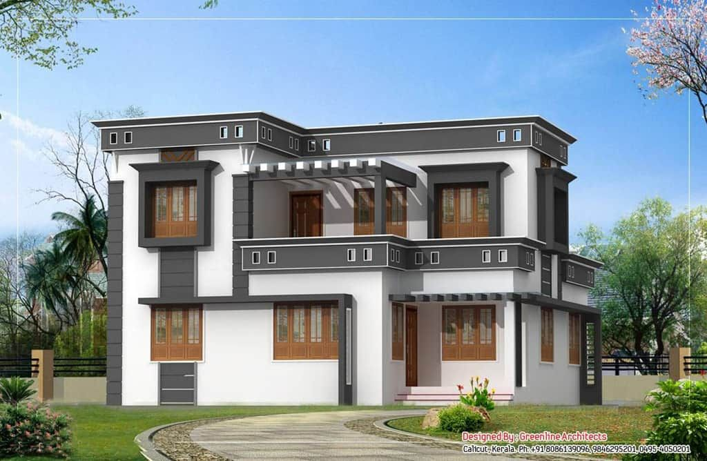 Modern House Plan Kerala House Balcony Design House Architecture Styles Modern Contemporary House Plans
