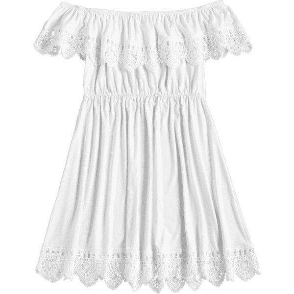 Scalloped Lace Trim Off The Shoulder Dress 165410 Pyg
