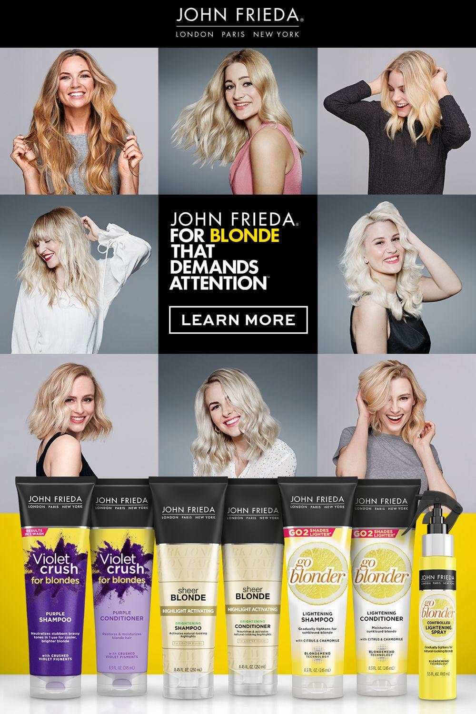 John Frieda Sheer Blonde Collection In 2020 Natural Hair Styles Easy Quick Natural Hair Styles John Frieda
