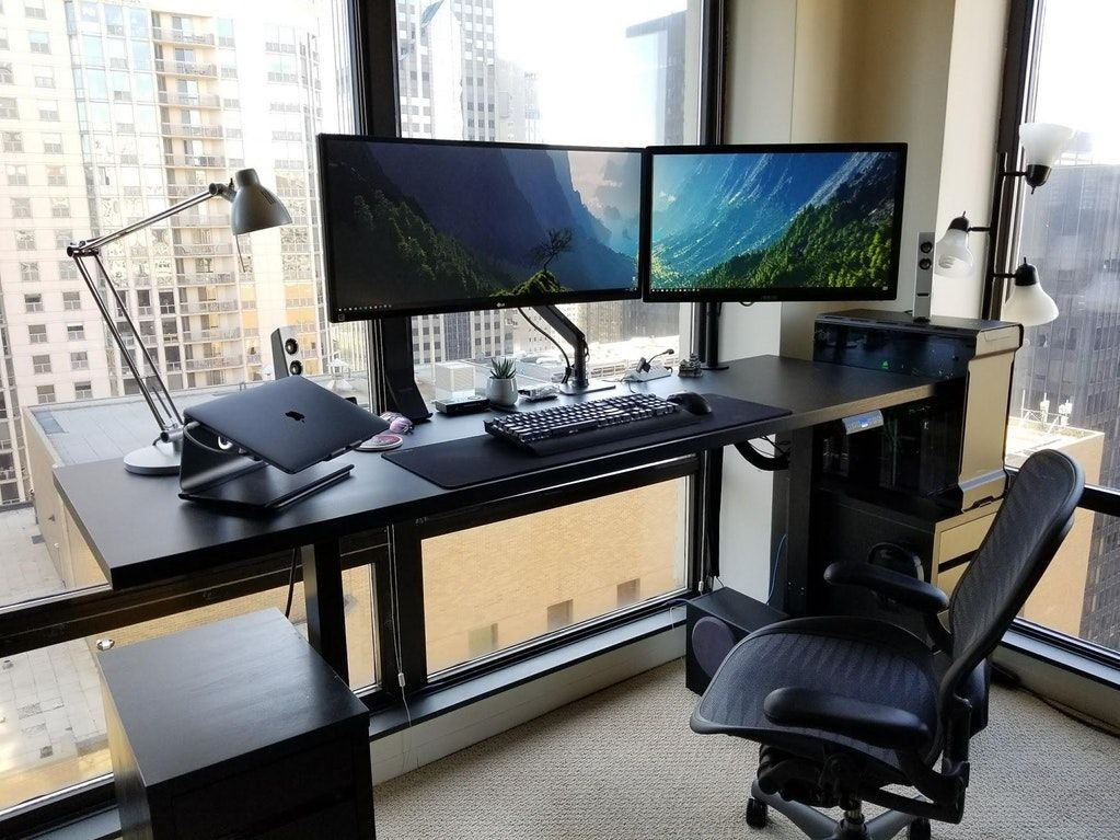 Upgraded To A Standing Desk Album In Comments Battlestations Home Office Setup Best Ergonomic Office Chair Home