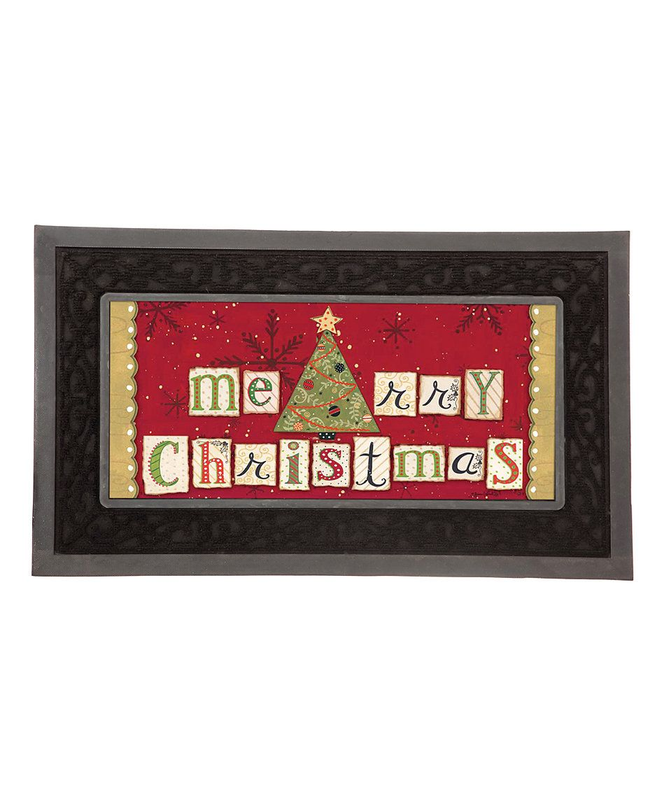 Take a look at this 'Merry Christmas' Doormat Tray Insert today ...