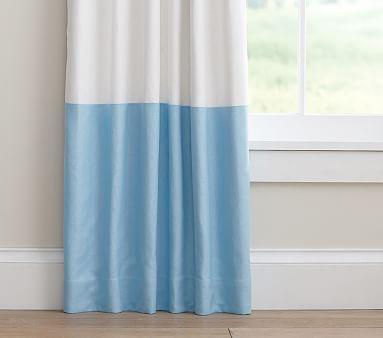 Color Block Blackout Curtain Color Block Curtains