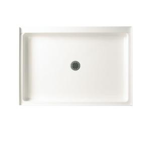 Swan 34 In X 42 In Solid Surface Single Threshold Center Drain