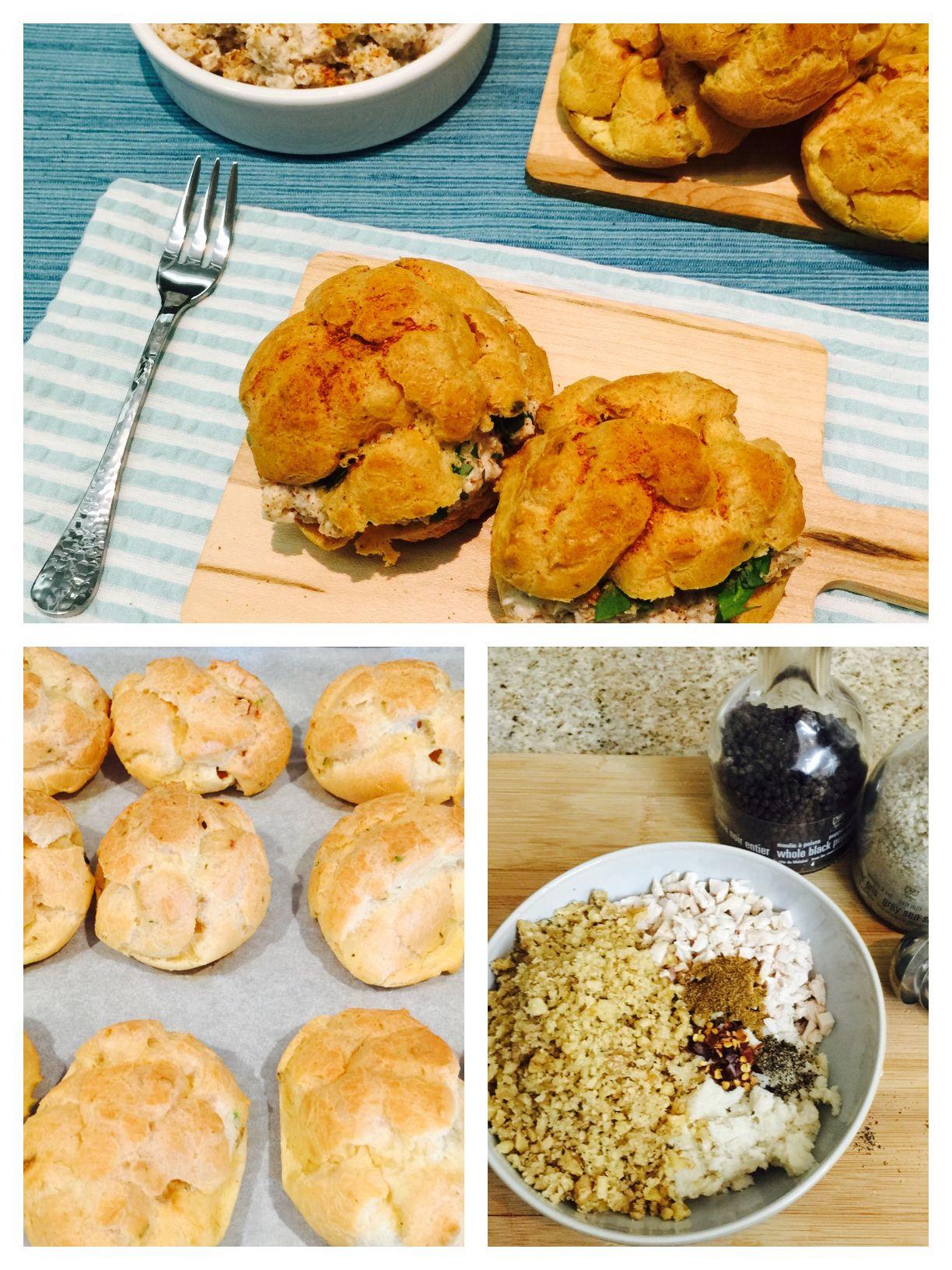 Circassian chicken choux puffs   #UAEbloggers #fdbloggers #delicious #yummy #chouxpuff  Recipe at http://www.tantalisemytastebuds.com