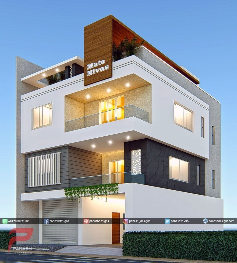 Pin By Nasrin On Homes 3 Storey House Design House Front Design House Architecture Design