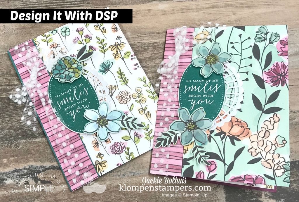 Easy Handmade Card Using Share What You Love Designer Paper Klompen Stampers Simple Cards Handmade Cards Handmade Cards