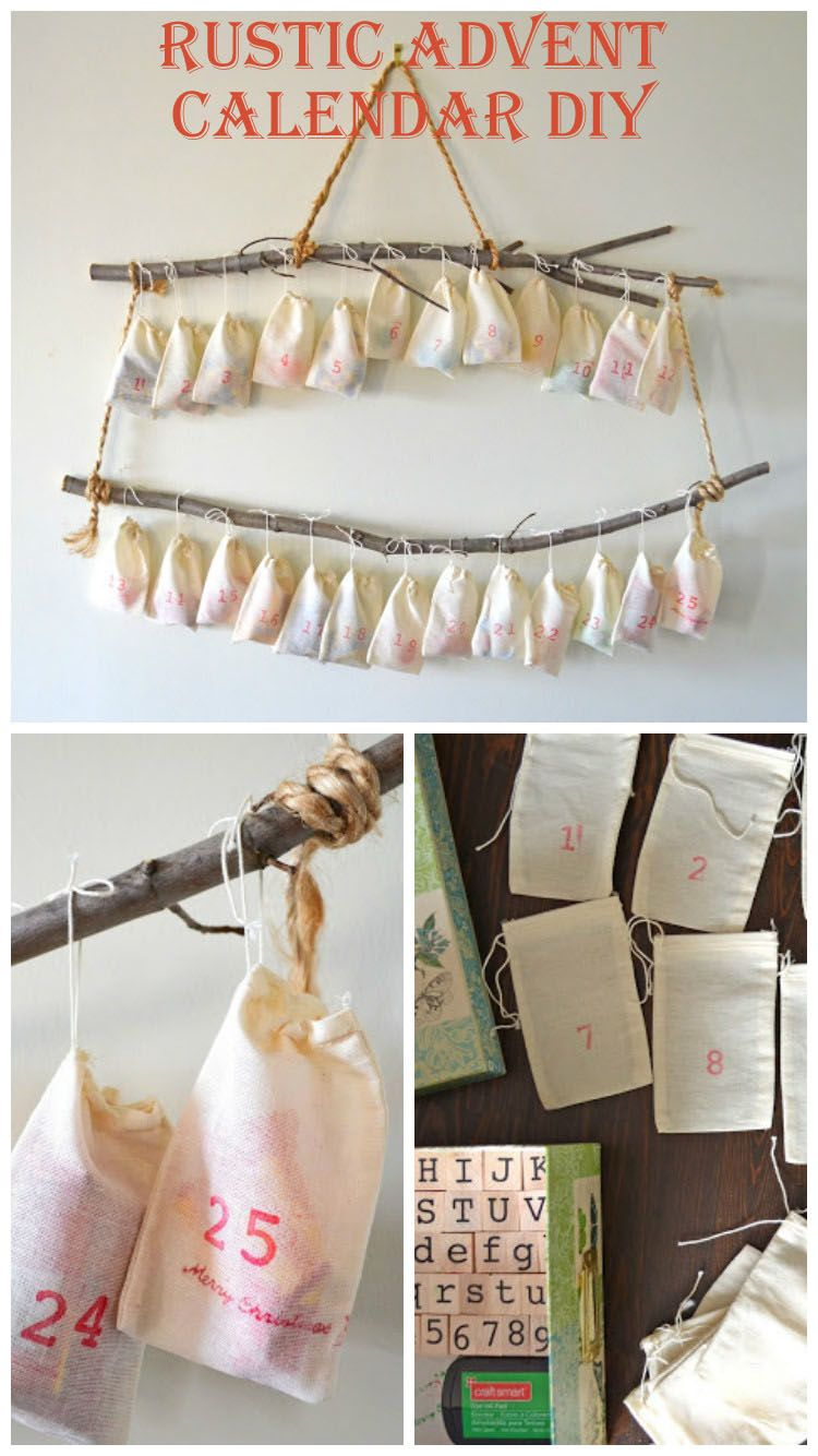 Rustic Advent Calendar DIY this was so fun and easy to make
