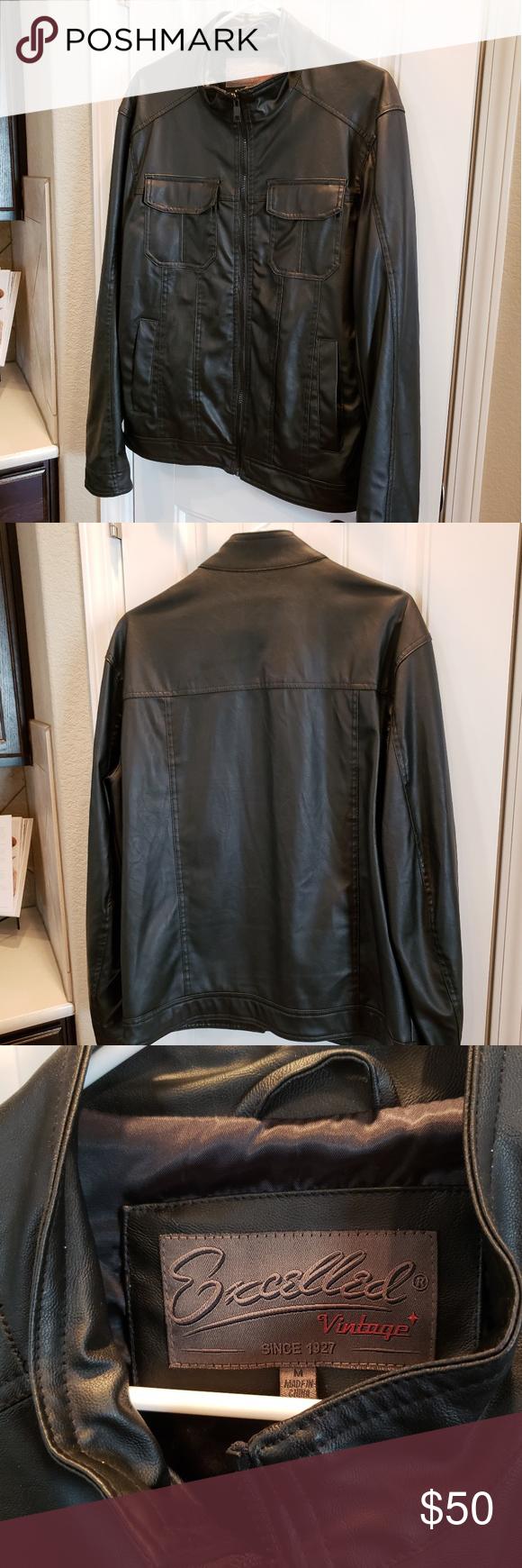Excelled Jacket Mens Size M Mens Jackets Jackets Vintage Branding [ 1740 x 580 Pixel ]