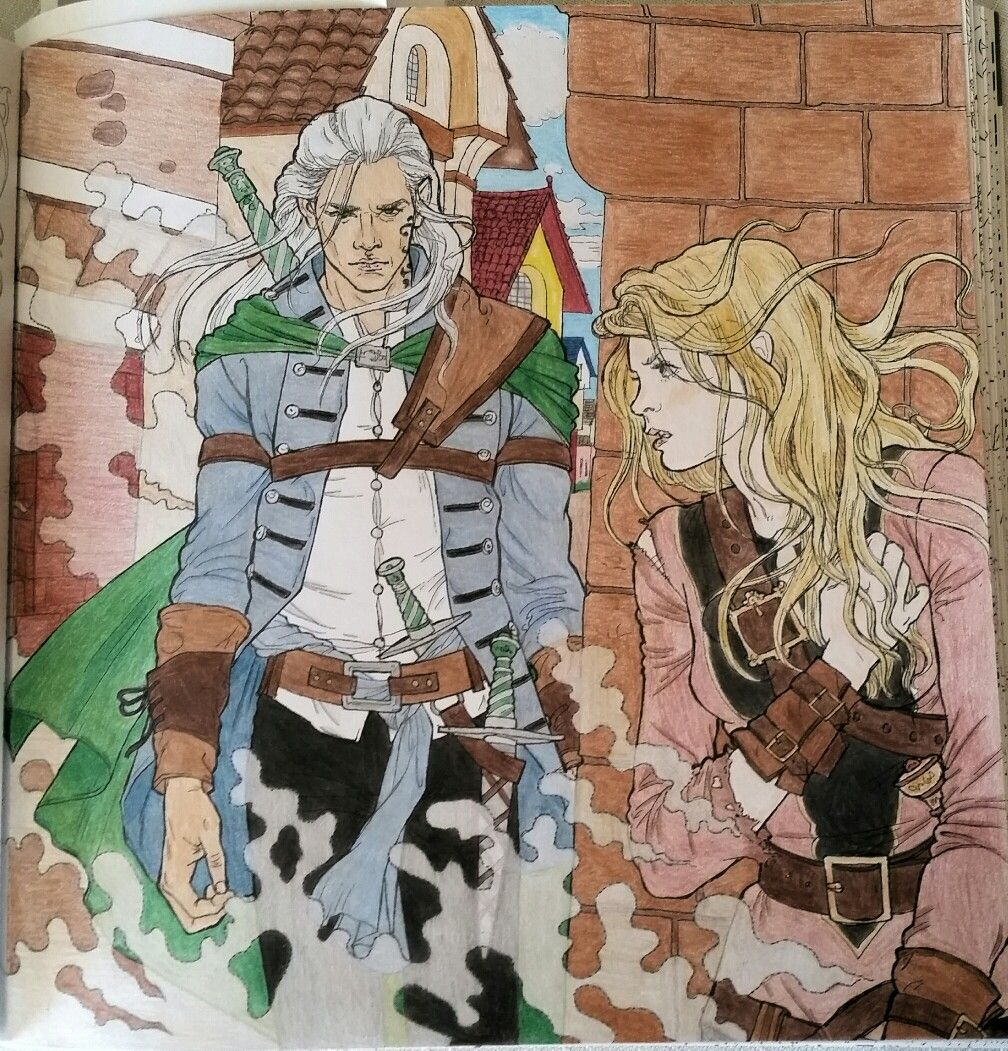 Rowan Whitethorn Throne Of Glass Coloring Book By Clpn With