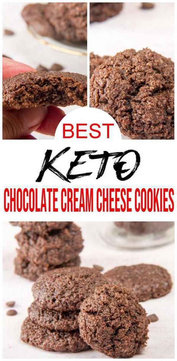 BEST Keto Cookies! Low Carb Chocolate Cream Cheese Cookie Idea – Quick & Easy Ketogenic Diet Recipe – Completely Keto Friendly - Desserts - Snacks