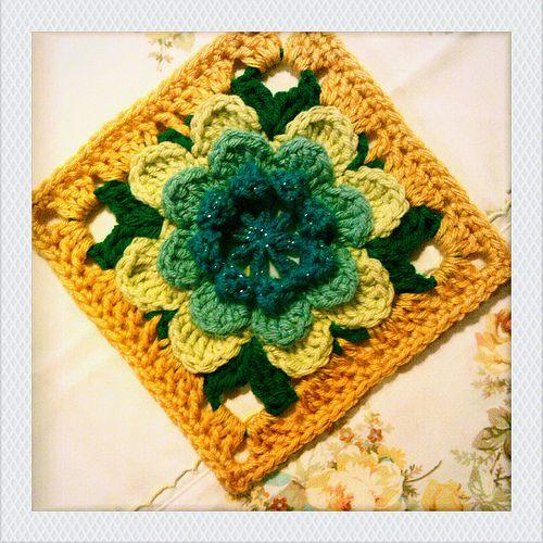Lovely granny square pattern | Crochet | Pinterest | Gehäkelte ...
