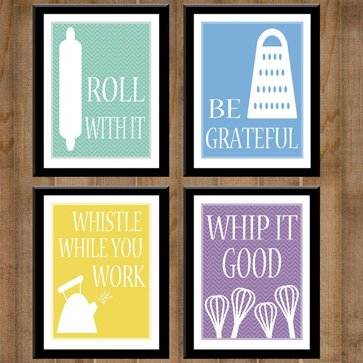 Kitchen Collection -- Set Of Four 8X10'S -- Printable, Digital