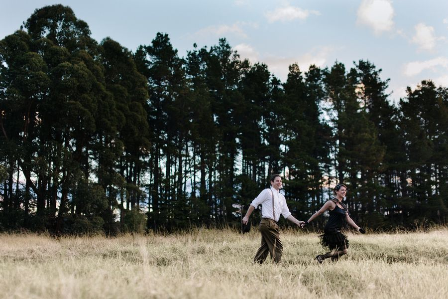 Take a step back in time to the 1920's with this engaged couple in the Blue Mountains of New South Wales, Australia... From the Photographer, Hilary Cam: Ben and Bianca are a creative couple. Bianc...