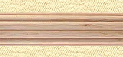 1 3 8in Dia Reeded Wood Pole 6ft Unfinished Interior Mall
