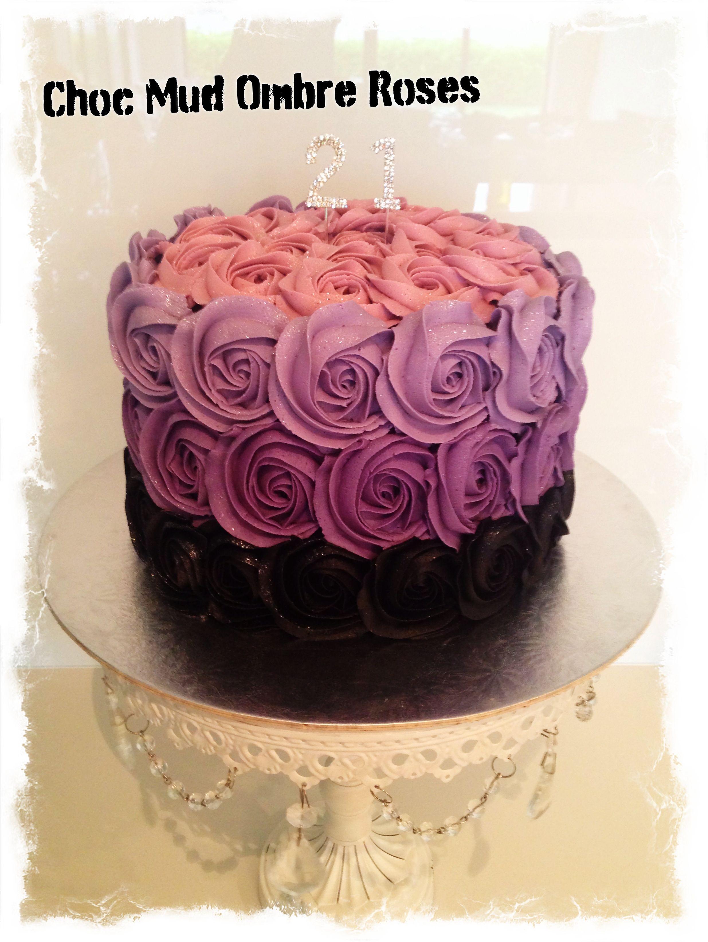 Ombre Rose Buttercream Cake Wedding   Buttercream cake ideas ...