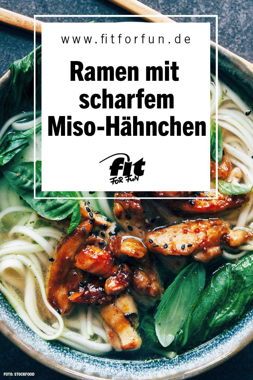 Ramen mit scharfem Miso-Hähnchen