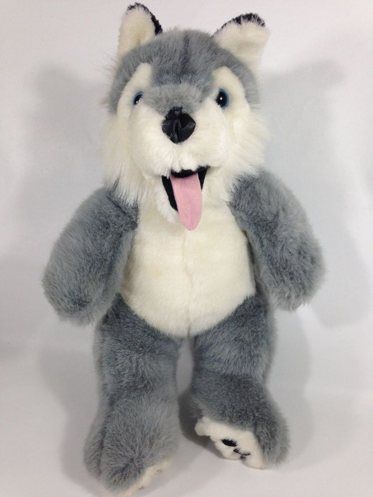 Husky Puppy Dog Plush Animaland 2006 Grey White Wolf Stuffed Animal