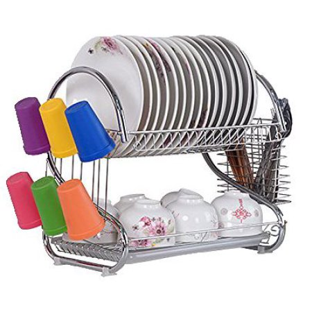 Lande 2 Tier Dish Rack Dish Drying Rack Kitchen Rack Bowl Rack