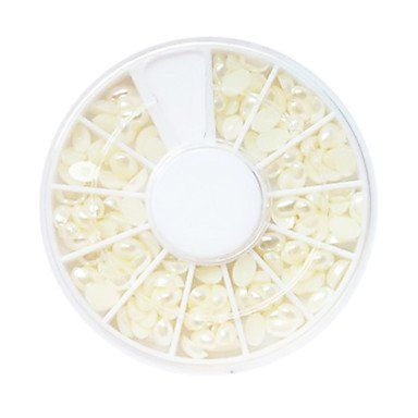 QINF White Plastic Twinkle Round Pearl Nail Art Decorations *** Check out the image by visiting the link.