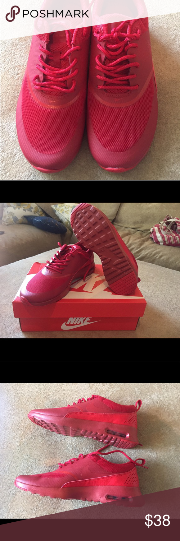 Women's Red Nike NWOT, I am not sure the style. Nike Shoes Athletic Shoes