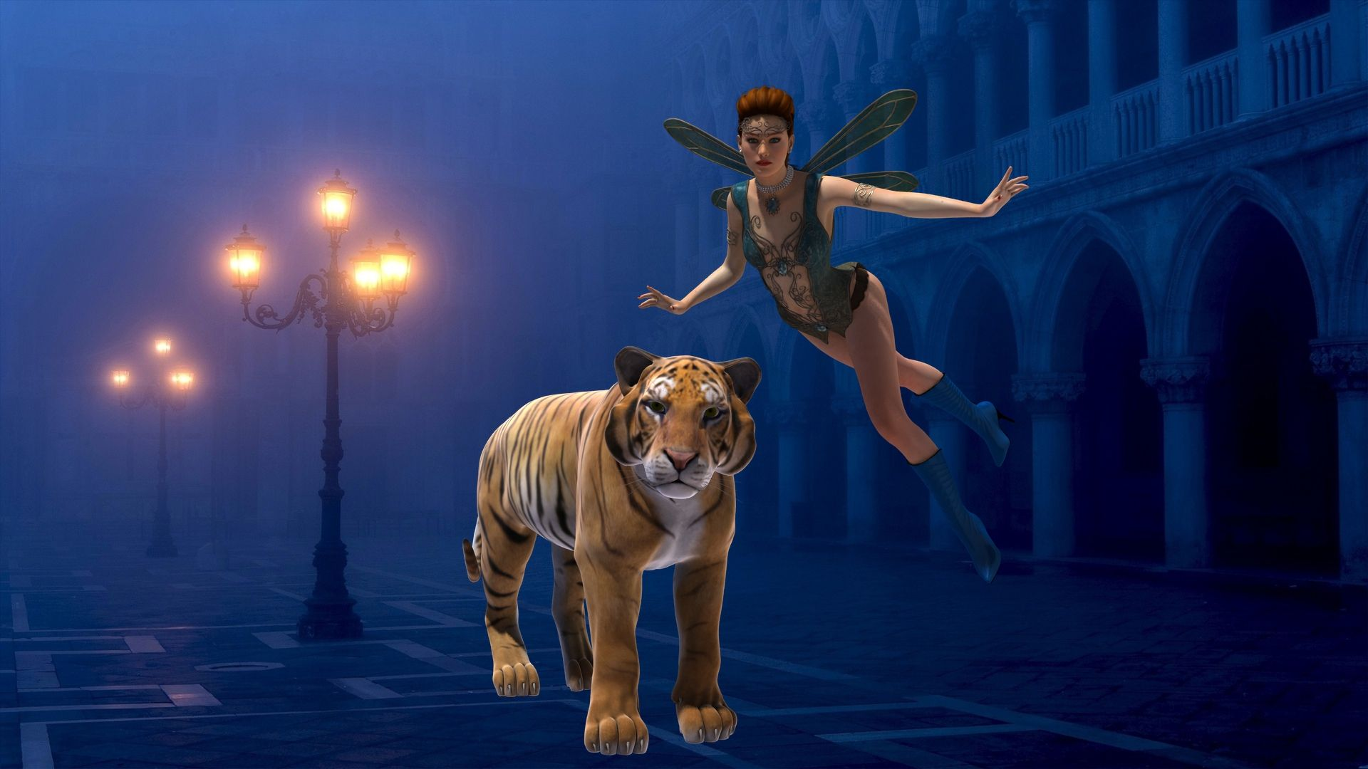 fairy and tiger