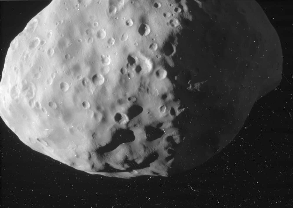 Cassni image of Saturn's moon Epimetheus,
