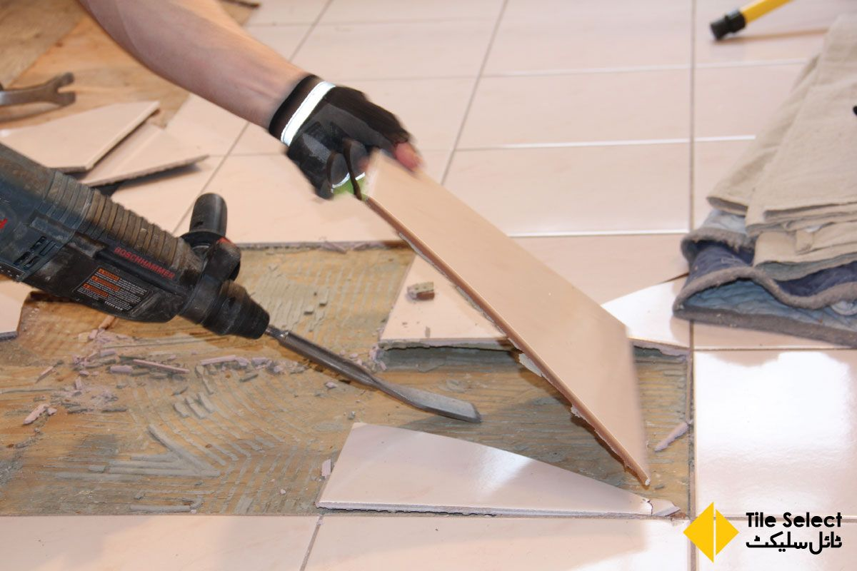How to professionally remove and replace tiles 1 remove