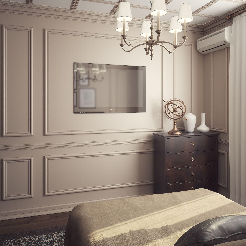 современные спальни дизайн: Нежная спальня в классическом стиле