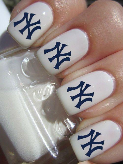 New York Yankees Nail Decals | Yankees | Pinterest | Yankees nails ...