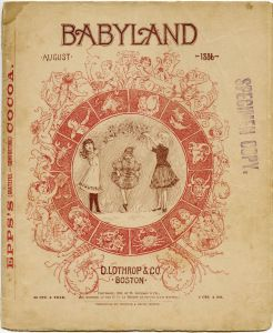 Babyland Magazine Cover Old Book Page Aged Paper Graphics Victorian Baby Clipart