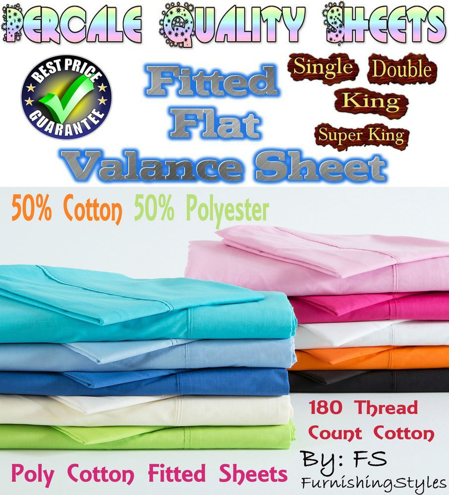 Fitted sheet bed sheets single double king flat valance