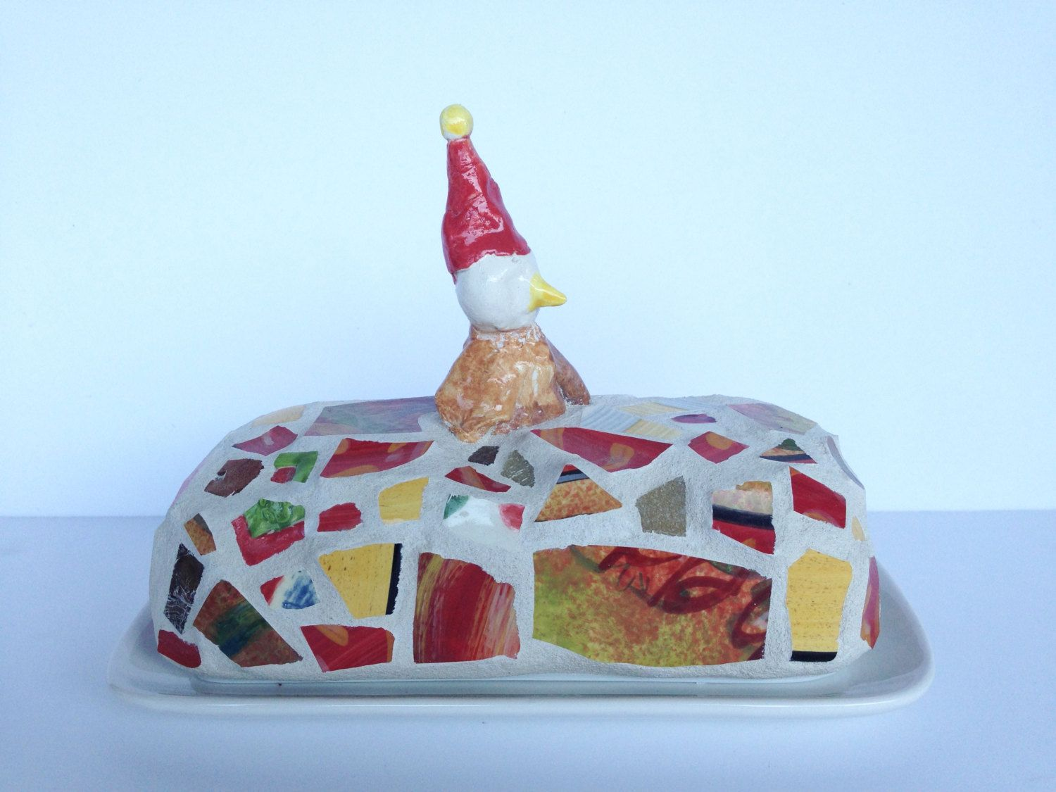 nice hat! butter dish by butterbiskit on Etsy