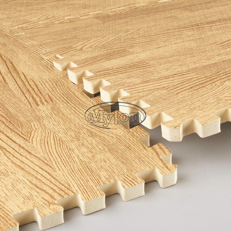 Wood Effect Eva Interlocking Soft Cushion Office Gym Floor Mats Yoga Play Mat Ningbo Mylon Rubber Plastic Co Lt Foam Mat Flooring Gym Floor Mat Puzzle Mat