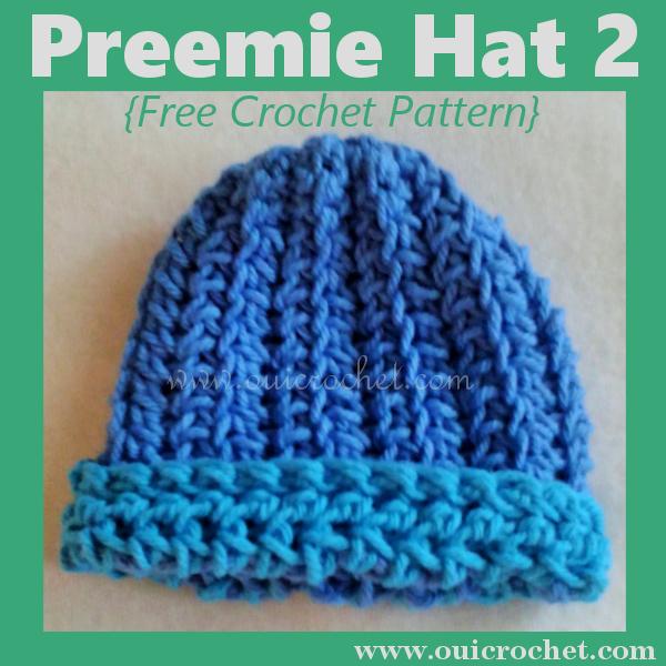 Preemie Hat 2 {Free Crochet Pattern} | Crochet baby | Pinterest