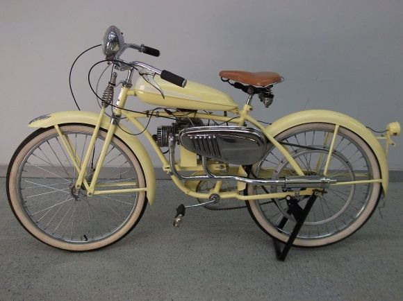 1951 Monark Super Twin Motorcycle Vintage Bikes Old Bikes