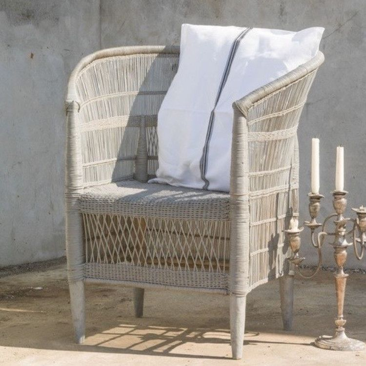 Basket Weave Cane Chair   Grey U2013 Allissias Attic U0026 Vintage French Style