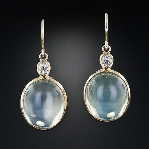 earrings company esprit and creations rainbow moon stone moonstone