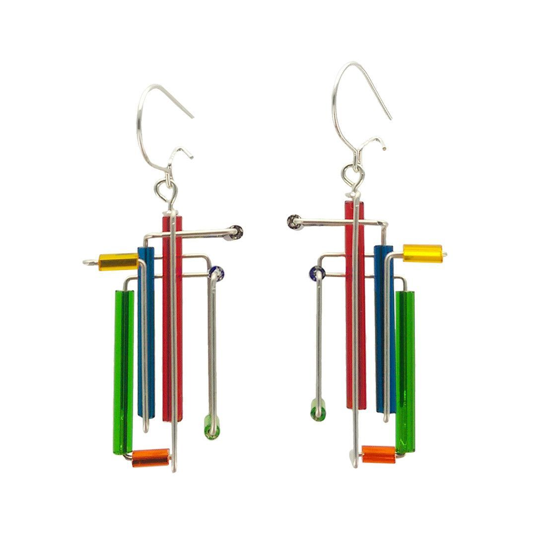 Barbie Levy Abstract Colorful 3D Earrings | Products | Pinterest