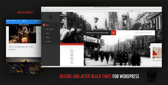Before And After Black Times Theme For WordPress | Pinterest