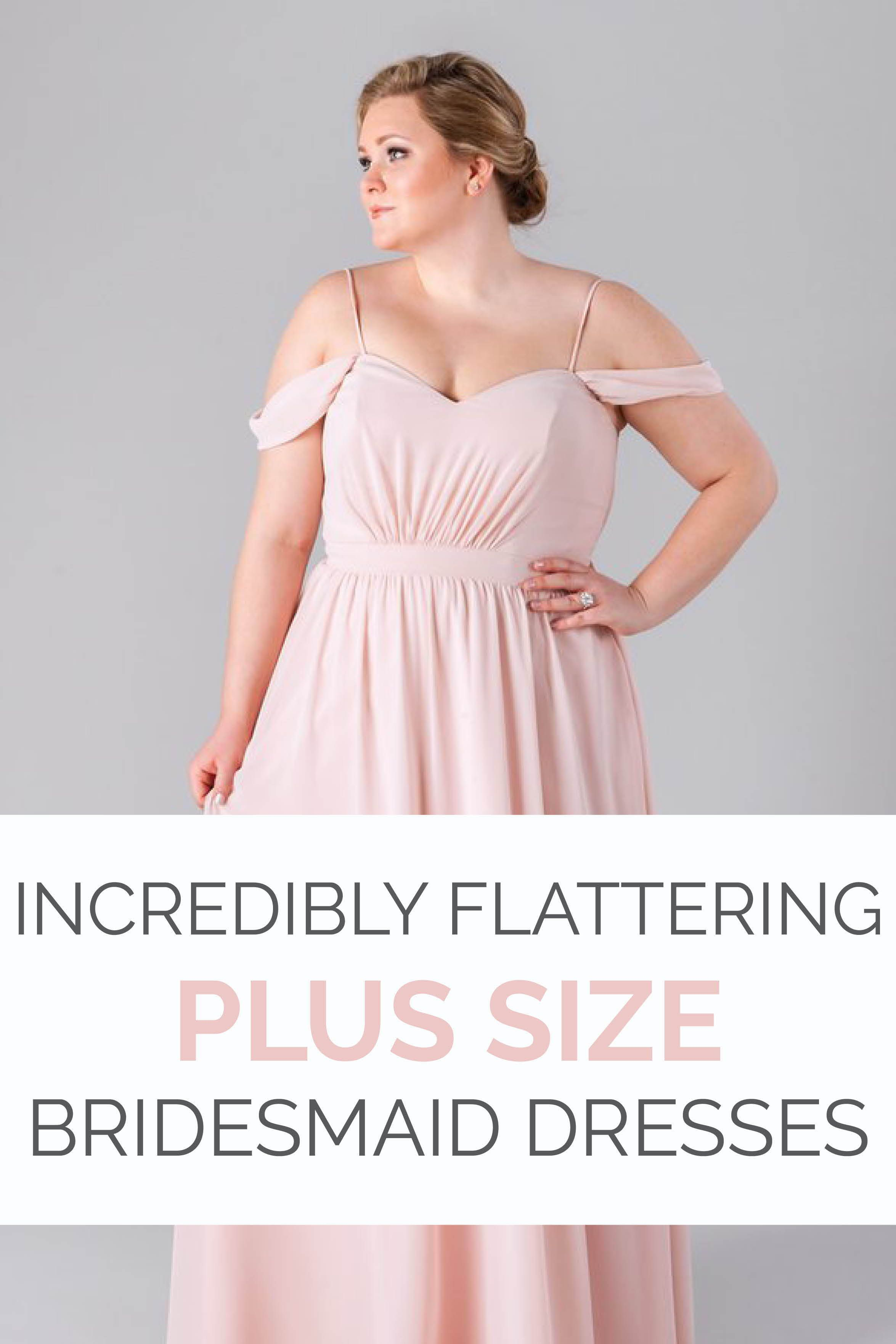 Incredibly flattering plus size bridesmaid dresses kennedy blue