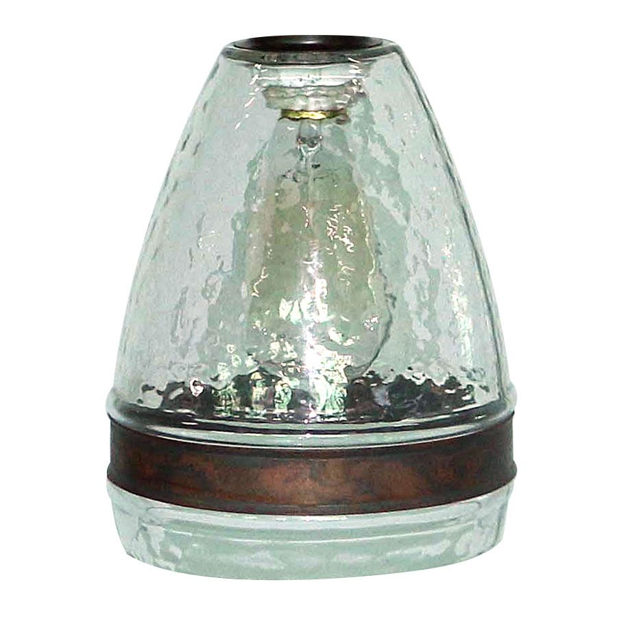 Portfolio 7 5 In H 6 In W Clear Textured Glass Bell Pendant Light