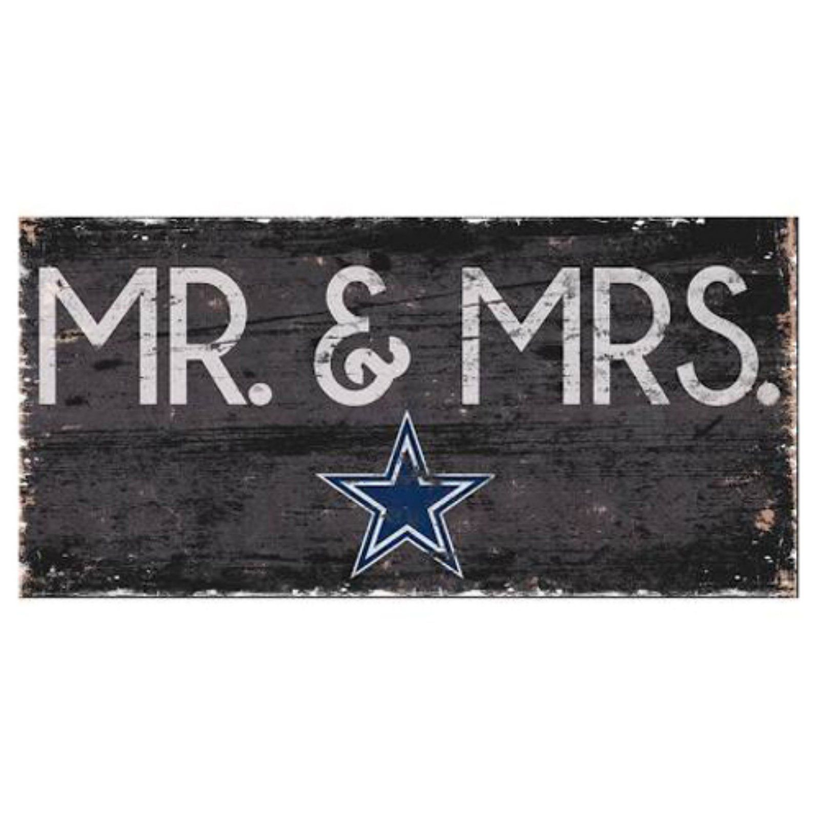 Multi Fan Creations Dallas Cowboys Mr /& Mrs Sign