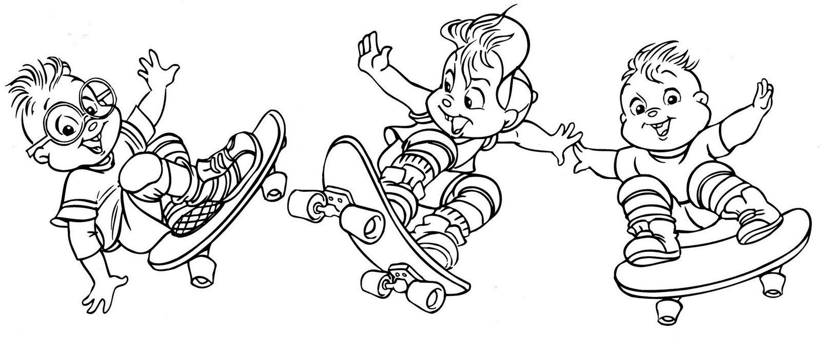 Alvin Skate Com Imagens Desenhos Desenhos Para Pintar Pintar