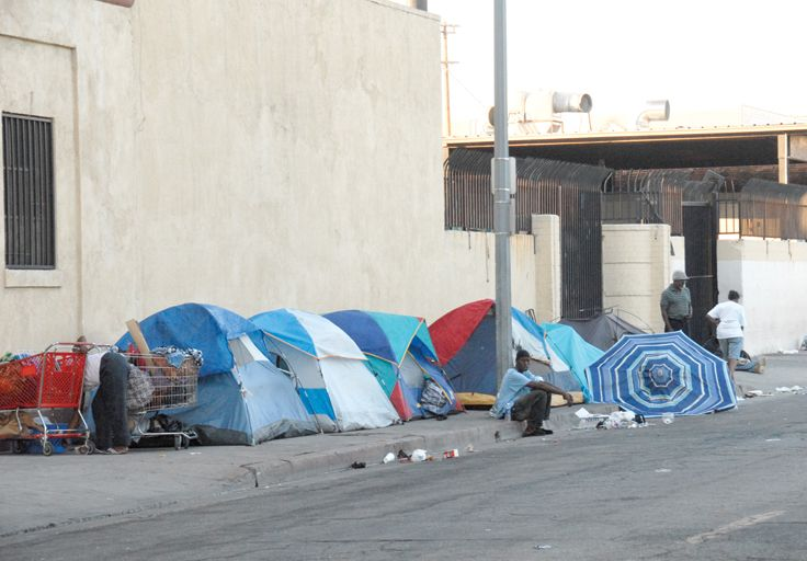 A Picture Of Skid Row Homelessness Skid Row San Julian Homeless