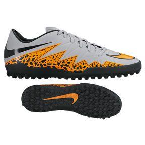 Nike HyperVenom Phelon II Turf Soccer Shoes (Wolf Grey)  7f90409b9bb59