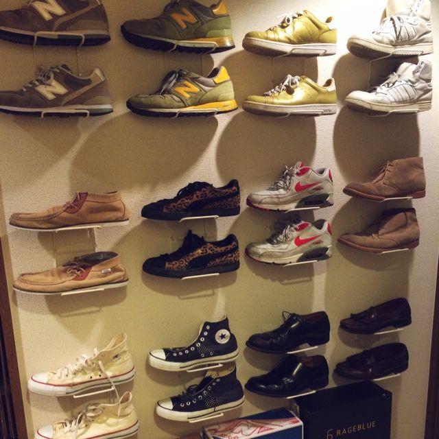 osyakaさんの、玄関/入り口,収納,一人暮らし,ディスプレイ収納,靴屋,のお部屋写真