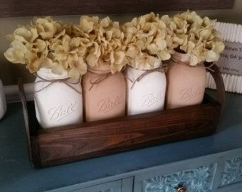 Items Similar To Mason Jar Table Decor Centerpiece Horseshoe Rustic Home Wedding On