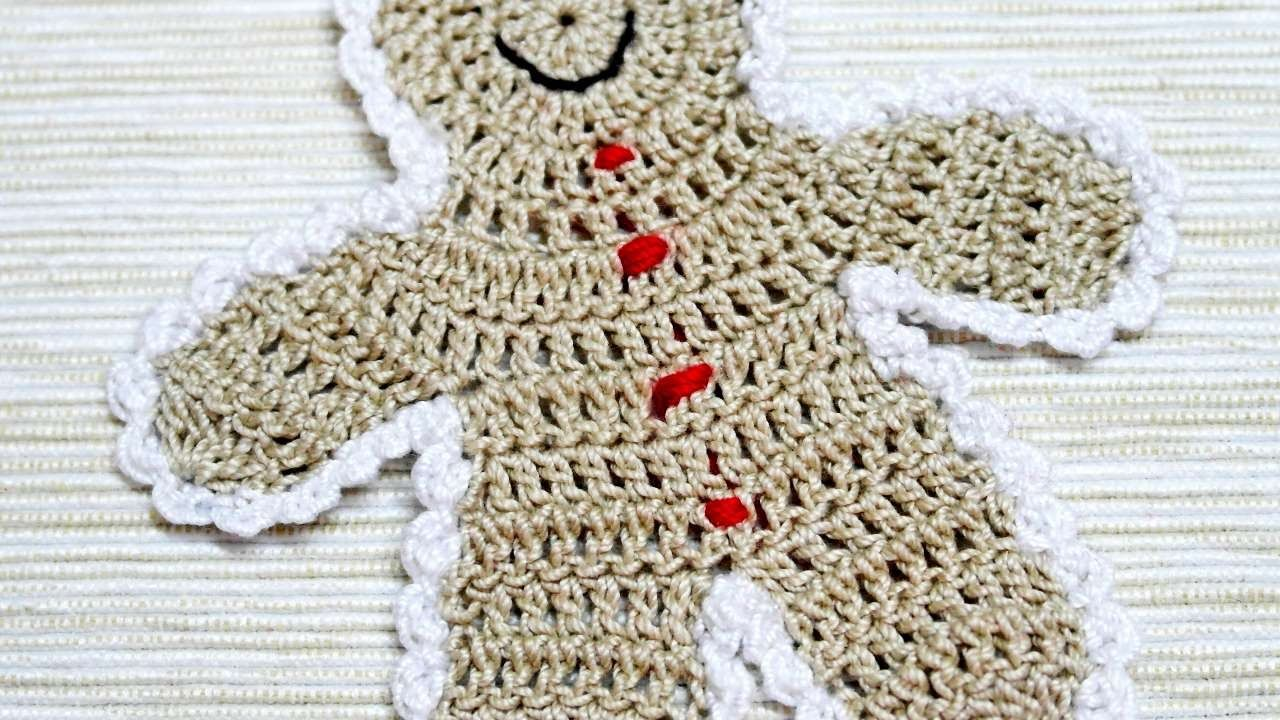 How To Make A Crocheted Gingerbread Boy Applique - DIY Crafts ...
