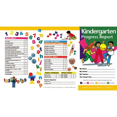 Kindergarten Common Core Report Cards | Kindergarten Progress ...